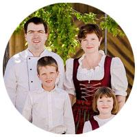 Michael Haas mit Familie